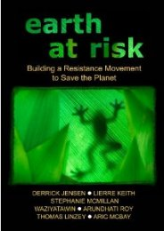 DVD cover Earth at Risk: Building a Resistance Movement to Save the Planet.